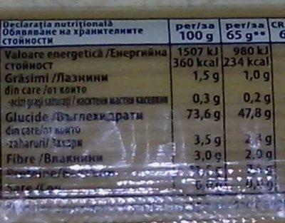Spaghetti No 6 - Nutrition facts - ro