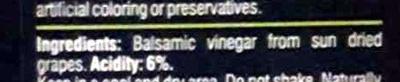 Balsamic Vinegar - Ingredients