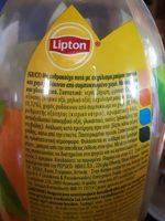 Lipton Ice Tea 1.5L - Peach - Ingredients - fr