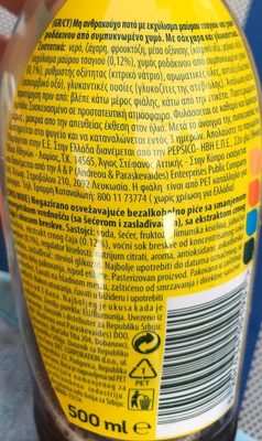 Lipton Ice Tea 500ML - Peach - Ingredients