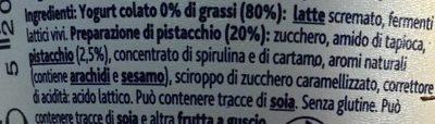 Yaourt à la Grecque Pistache - Ingredienti