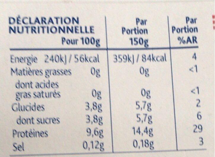 Yaourt grec - Voedingswaarden - fr