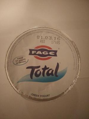 Yaourt Grec FAGE Total 5% - Prodotto - en