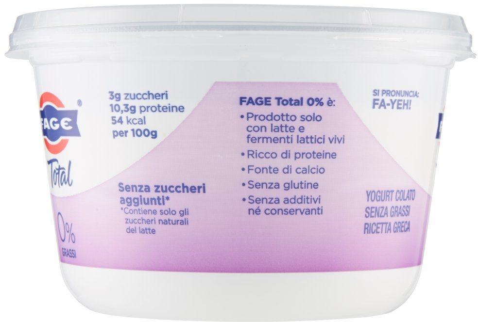 Yog. total 0% GR. 500 Fage . - Ingredienti - it