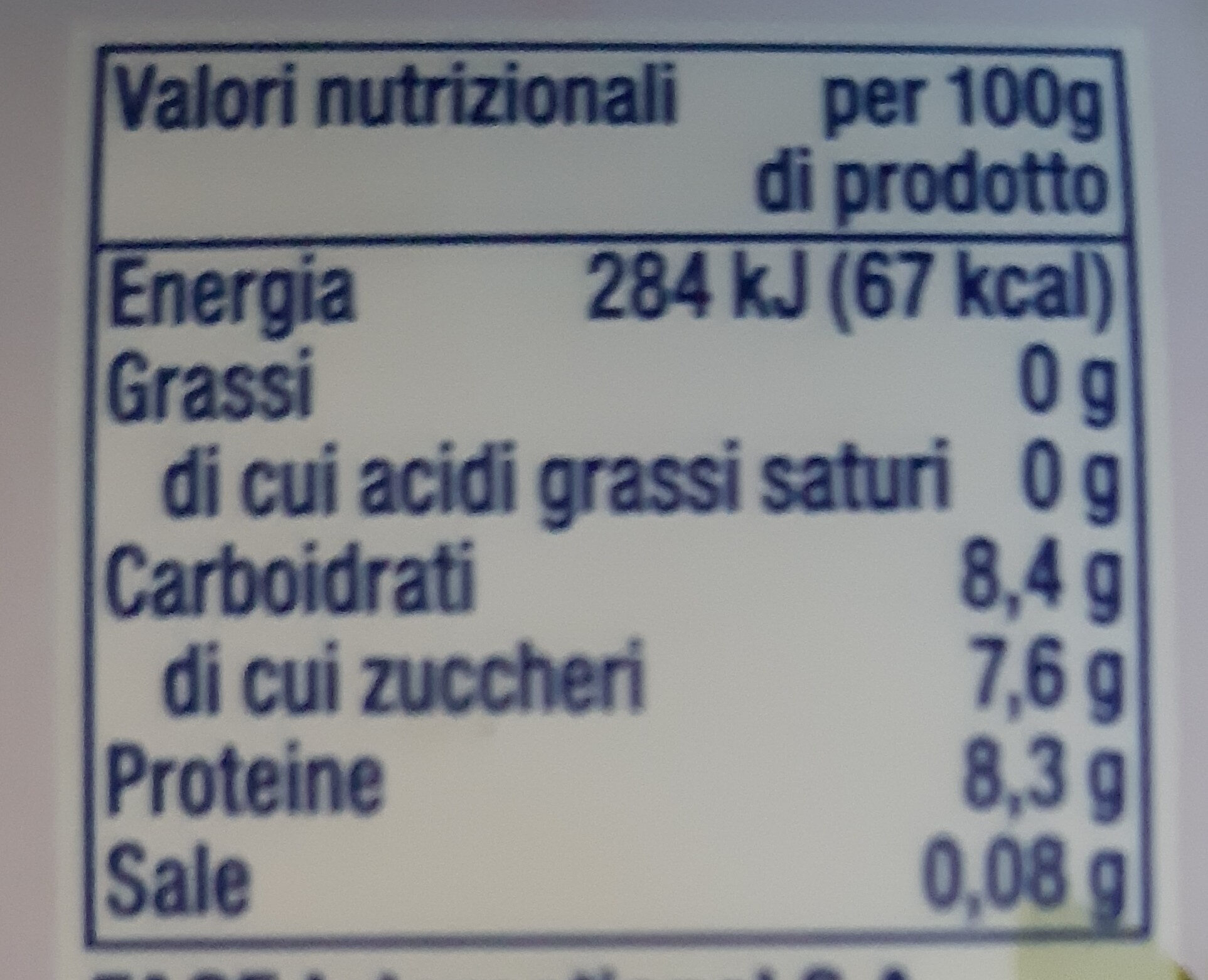 Fage Total 0% con Fragola - Informations nutritionnelles - it
