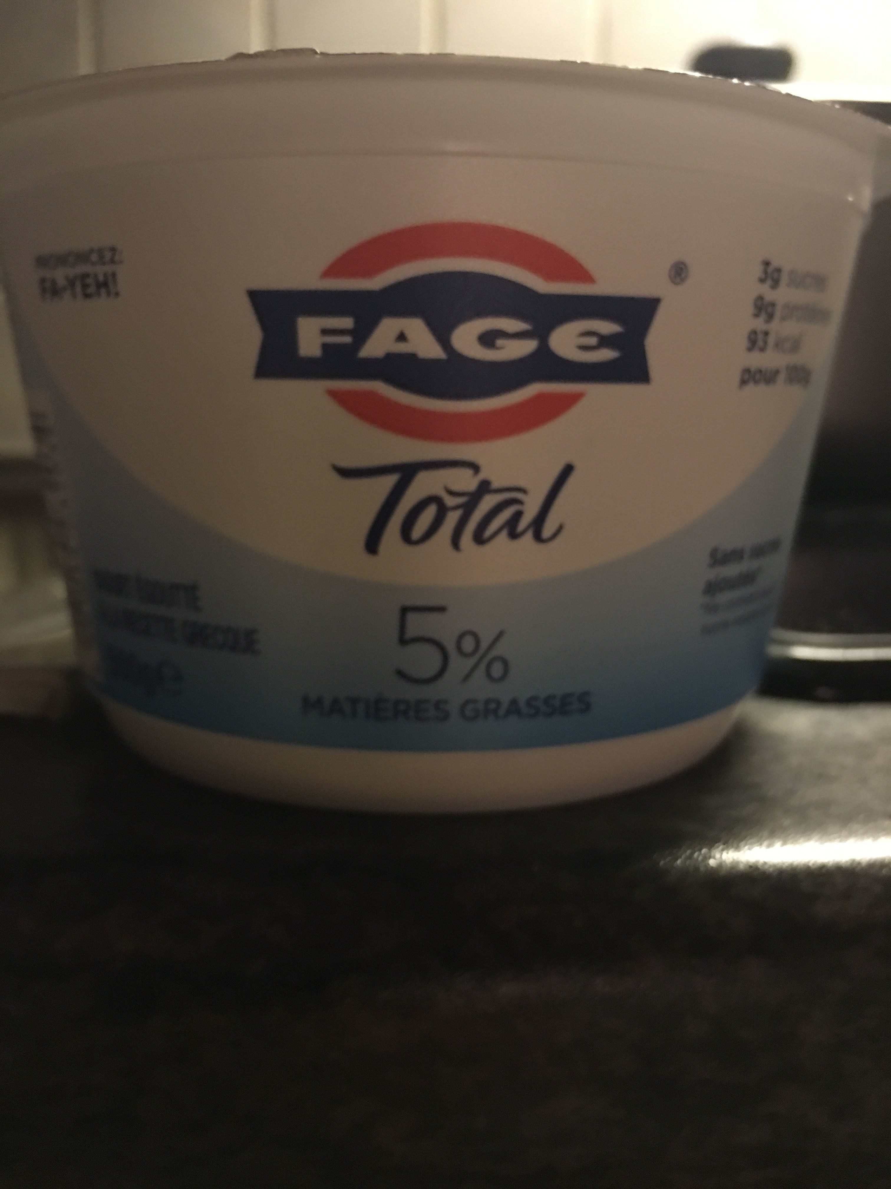 Yaourt Grec FAGE Total 5% - Product - fr