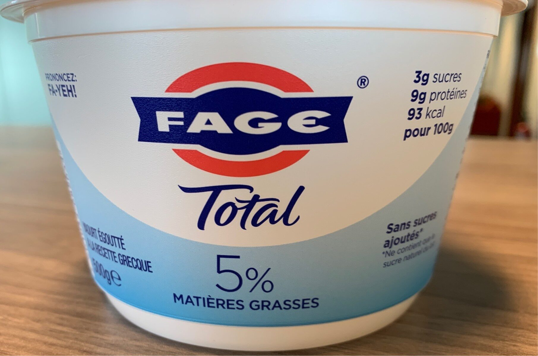 Yaourt Grecque Total 5% MG - Product - fr