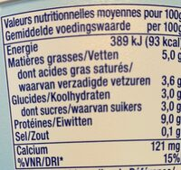 Yaourt Grecque Total 5% MG - Nutrition facts - fr