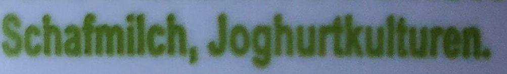 Griechischer schafmilch joghurt - Ingrédients - de