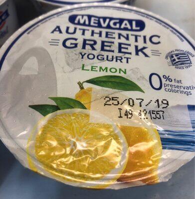 Authentic greek yogurt lemon - Producto
