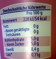 Griechischer Joghurt 0% Fet - Nährwertangaben - de