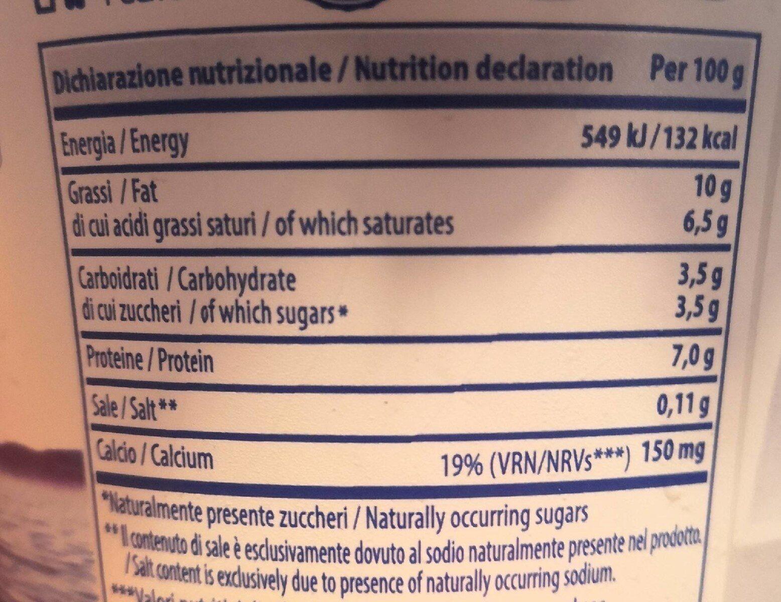 Mevgal Yogurt Extra - Informations nutritionnelles - fr