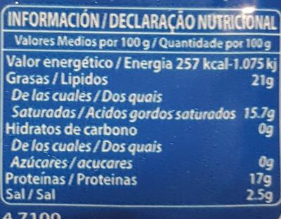 Feta AOP Sous Vide - Nutrition facts - en
