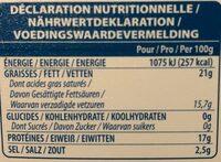 Dodoni 400G Greek Feta Cheese - Informations nutritionnelles - fr