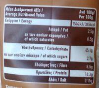Whole wheat flour - Διατροφικά στοιχεία - fr