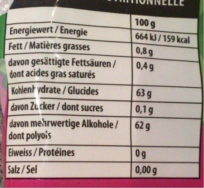 BubbleBear - Informations nutritionnelles - fr