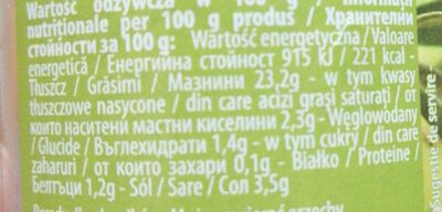Пастет от зелени маслини - Informations nutritionnelles - bg