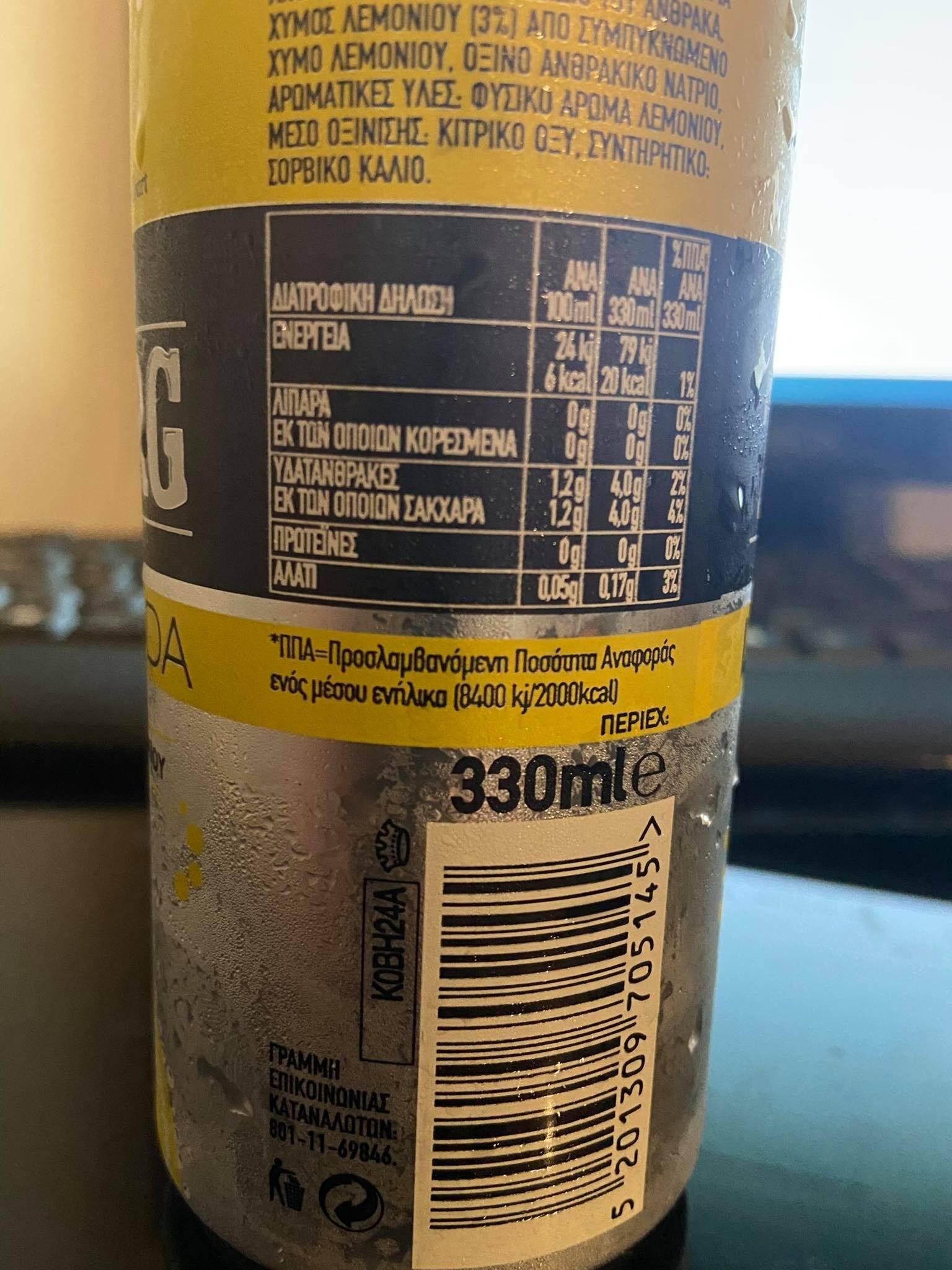 LEMON SODA - Informations nutritionnelles - el