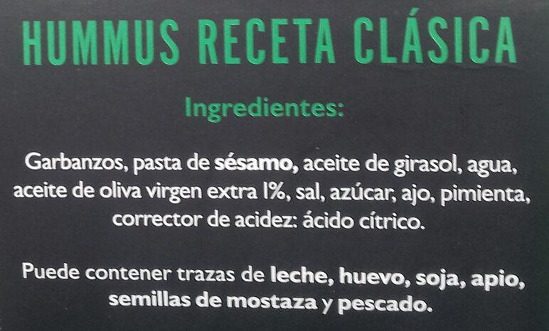 Authentic Grec Houmous - Ingredientes - es