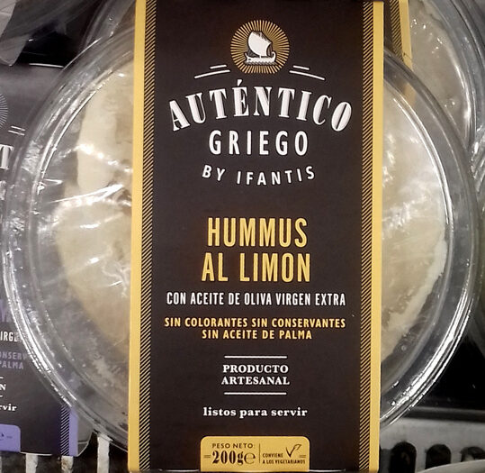 Hummus al Limón Auténtico Griego - Producto