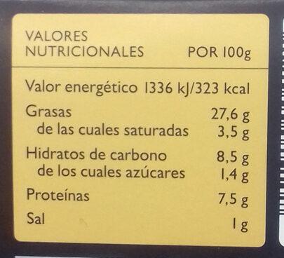 Hummus al Limón Auténtico Griego - Información nutricional