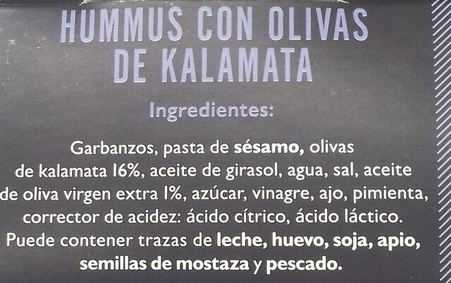 Houmous aux olives de kalamata Authentique Grec - Ingredientes