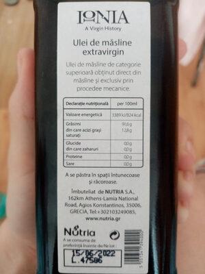 Ionia - Ingredients - ro