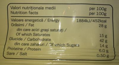 Croissant cu crema de vin spumant - Nutrition facts - ro