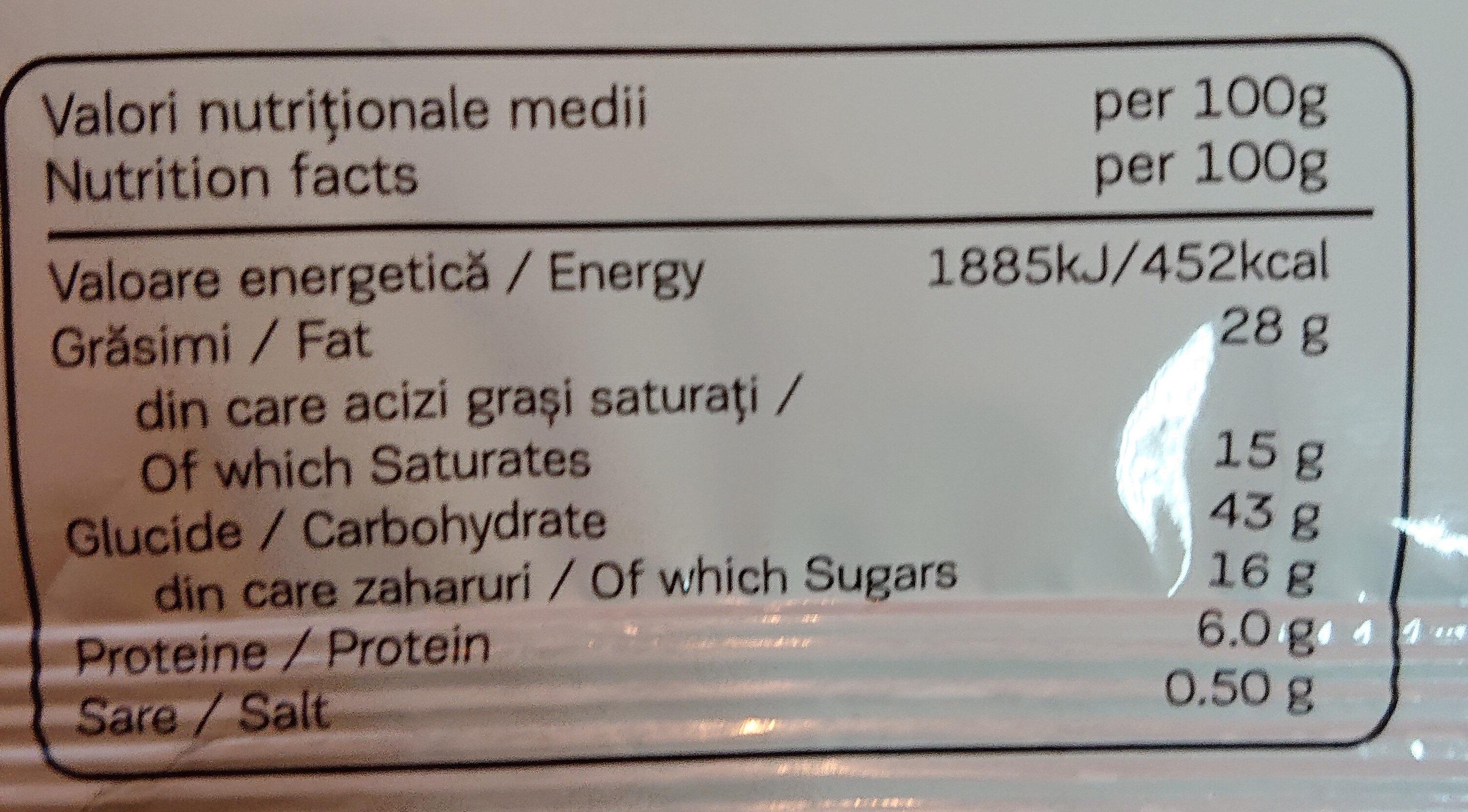 Double max croissant with cocoa and vanilla - Información nutricional - ro