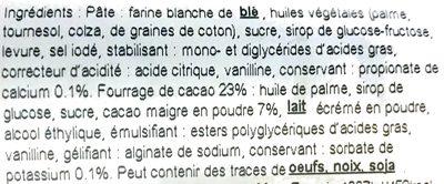 Croissant cu umplutură cu cacao - Ingrédients - fr
