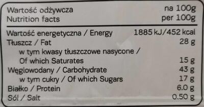 Super max - Informations nutritionnelles - es
