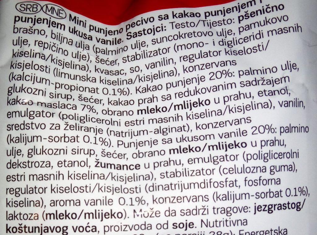 Mini kroasan double - Sastojci