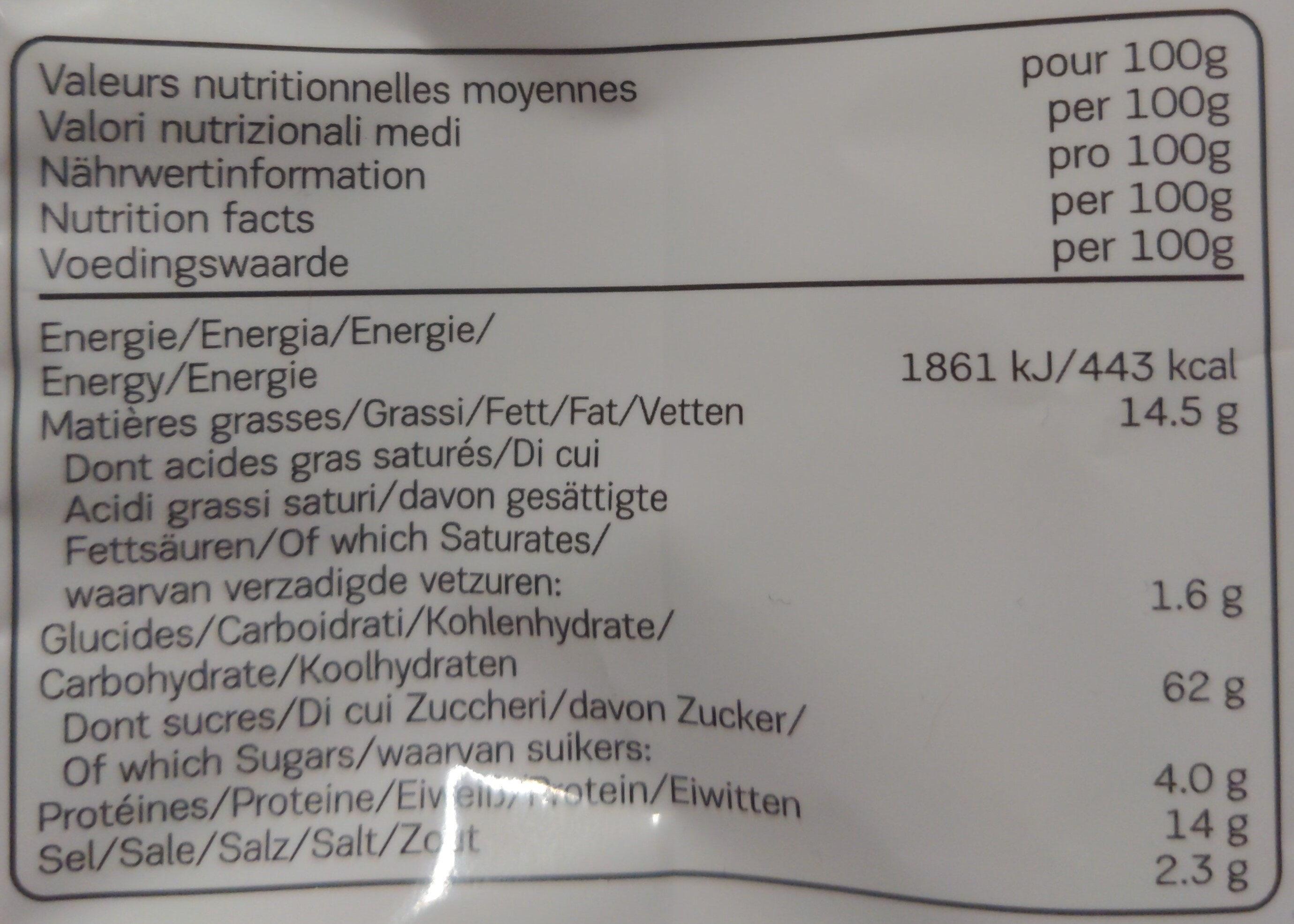 Bake Rolls Knoblauch - Nährwertangaben - de