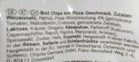 Brot Chips Pizza - Zutaten - de