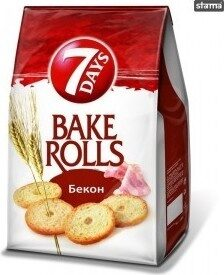 Bake Rolls 7 Days Bacon 80G + - Продукт - bg