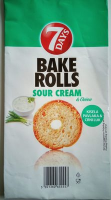 Bake rolls kisela pavlaka & crni luk - Produkt - sr