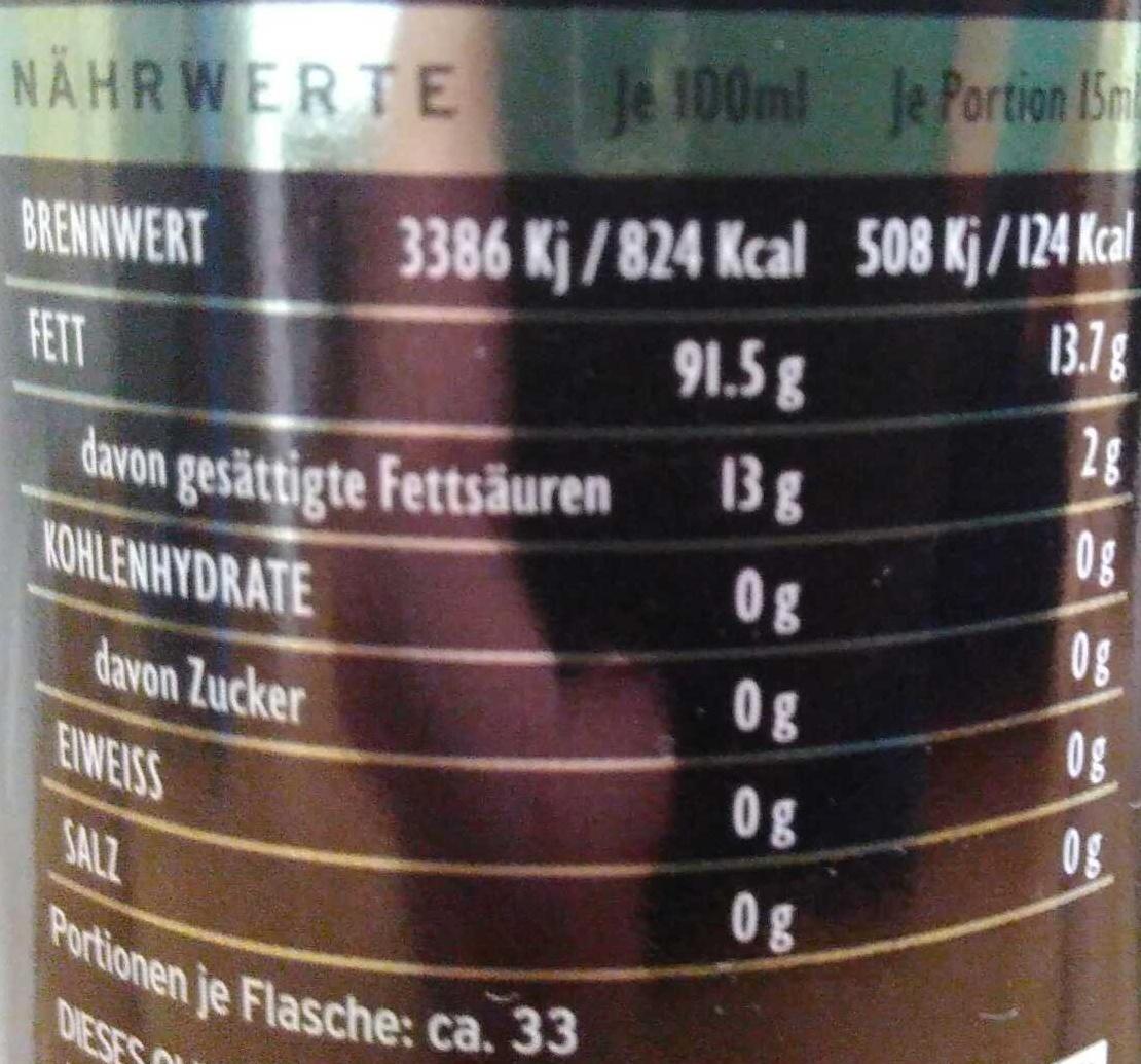 Sparta Natives Olivenöl Extra - Nutrition facts - de