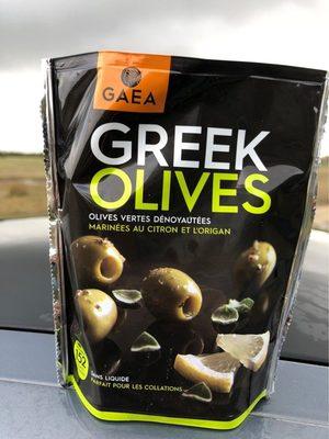 Greek olives vertes marinées citron et origan - Product - fr