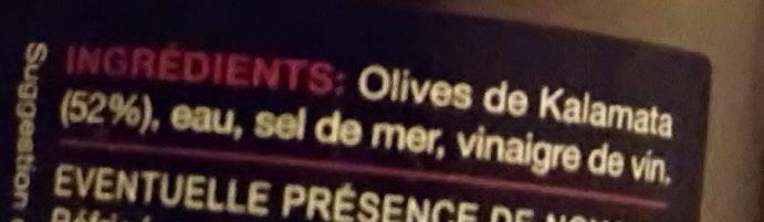 Olives dénoyautées de Kalamata - Ingrédients - fr