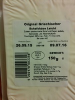 Original Griechischer Schafskäse Leicht - Product