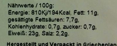 Original Griechischer Schafskäse Leicht - Voedingswaarden