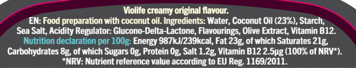 Creamy Original Flavour - Nutrition facts - fr