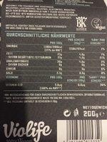Violife Vegan Slices - Nutrition facts