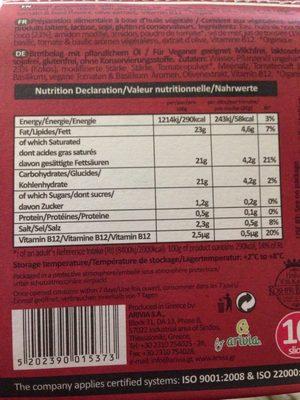 Violife slices - Voedingswaarden - en