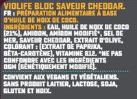Bloc saveur Cheddar - Ingrediënten - fr