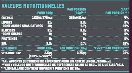Bloc saveur Cheddar - Voedingswaarden - fr