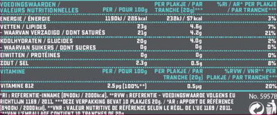 Original flavour Slices - Voedingswaarden - fr
