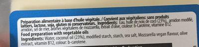 Lonchas Queso Vegano Mozzarella - Ingrédients - fr