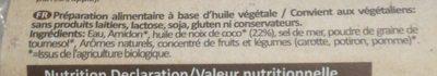 Queso Violife Organic. Lonchas - Ingredients