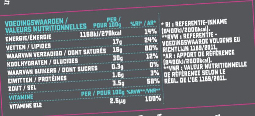 Prosociano Bloc - Nutrition facts - fr